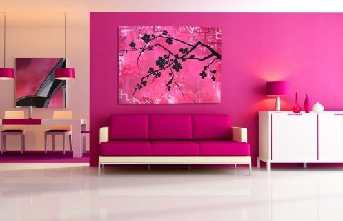 Ide Desain Interior Dengan Cat Warna Pink