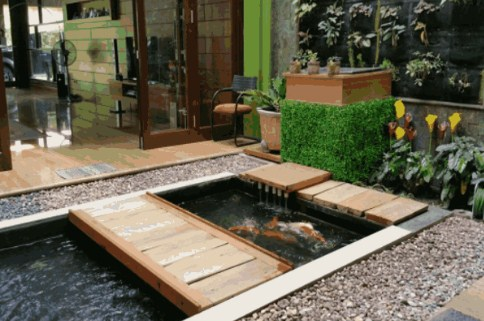 inspirasi desain kolam ikan untuk rumah minimalis - depo