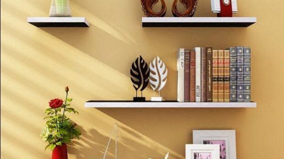 Sederhana dan Murah Dengan Rak Dinding di Rumah