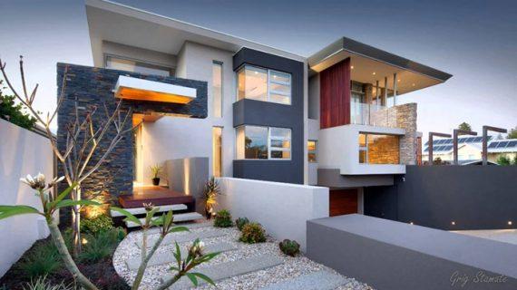 Cukup Bermain Warna Miliki Rumah Berkonsep Modern